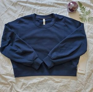 Perfectly Oversized Sweater Crop Crew Size 6